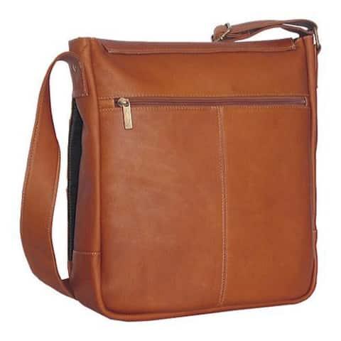 David King Leather 167 Laptop Messenger Bag Tan