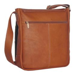 David King Leather 167 Laptop Messenger Bag Tan