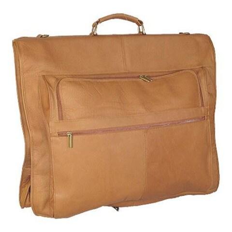David King Leather 208 48in Garment Bag Tan
