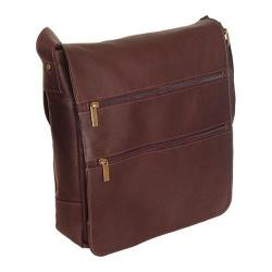 David King Leather 167 Laptop Messenger Bag Cafe