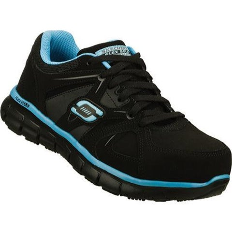Women's Skechers Work Synergy Sandlot ST Black/Blue