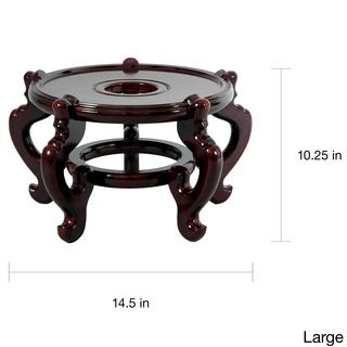 Handmade Large Five-leg Fishbowl Stand (China) - Brown