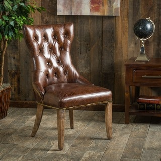 Christopher Knight Home Wharton Top Grain Leather Dining Chair (Single)