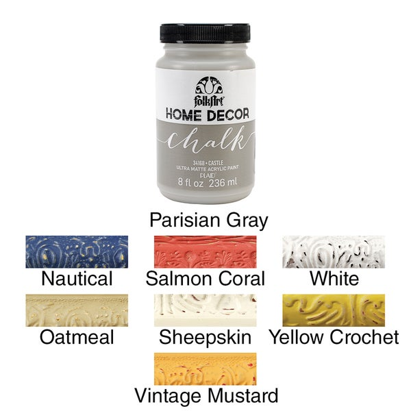 folkart home decor chalk paint 8oz - Home Decor Chalk Paint