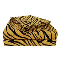 Superior Wrinkle Resistant Animal Print Deep Pocket Microfiber Sheet Set