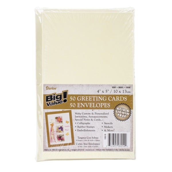 Cards & Envelopes 50-pack (4.25 x 5.5)