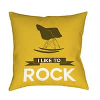 I Like to Rock Indoor/ Outdoor Throw Pillow
