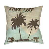 Love Life Indoor/ Outdoor Throw Pillow