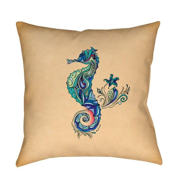 Seahorse Indoor/ Outdoor Pillow