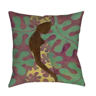 Thumbprintz Ebony Art Purple Indoor/ Outdoor Pillow