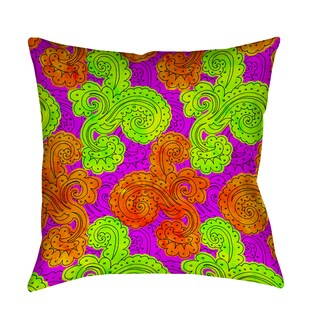 Thumbprintz Funky Florals Paisley Fuchsia Indoor/ Outdoor Pillow