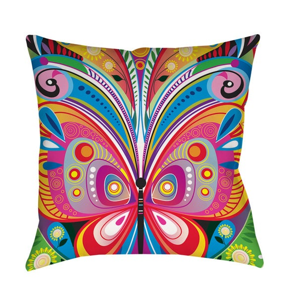Pattern Butterfly Indoor Outdoor Throw Pillow Free