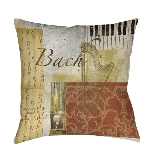 Classic Composers Bach Indoor/ Outdoor Pillow