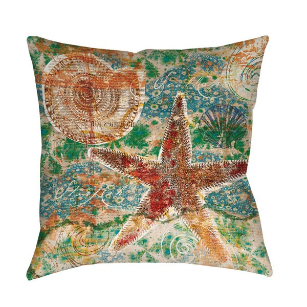Shop Coastal Motif I Indoor Outdoor Pillow Free Shipping On