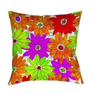 Thumbprintz Funky Florals Daisy Fuchsia Indoor/ Outdoor Pillow