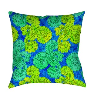Thumbprintz Funky Florals Paisley Royal Blue Indoor/ Outdoor Pillow