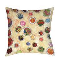 Funky Flowers Indoor/ Outdoor Throw Pillow