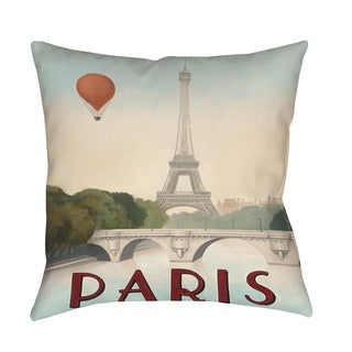 Thumbprintz City Skyline Paris Indoor/ Outdoor Pillow