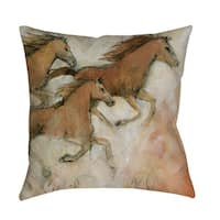 Horse Fresco II Indoor/ Outdoor Throw Pillow