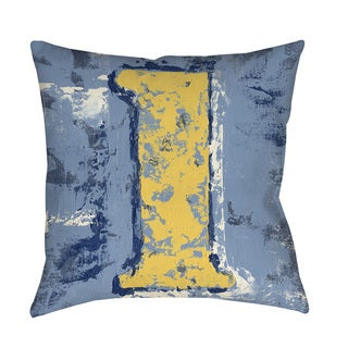 Thumbprintz Vintage Numbers I Indoor/ Outdoor Throw Pillow