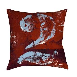 Vintage Numbers II Indoor/ Outdoor Throw Pillow