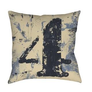 Thumbprintz Vintage Numbers IV Indoor/ Outdoor Throw Pillow