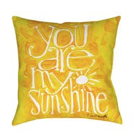 You are my Sunshine Indoor/ Outdoor Throw Pillow