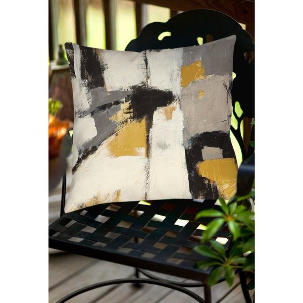 Yellow Catalina I Indoor/ Outdoor Throw Pillow
