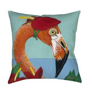 You Silly Bird Norma Indoor/ Outdoor Throw Pillow