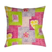 Hearts and Flowers Throw/ Floor Pillow