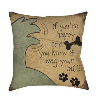Thumbprintz Wag Your Tail Throw/ Floor Pillow