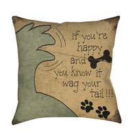 Wag Your Tail Throw/ Floor Pillow