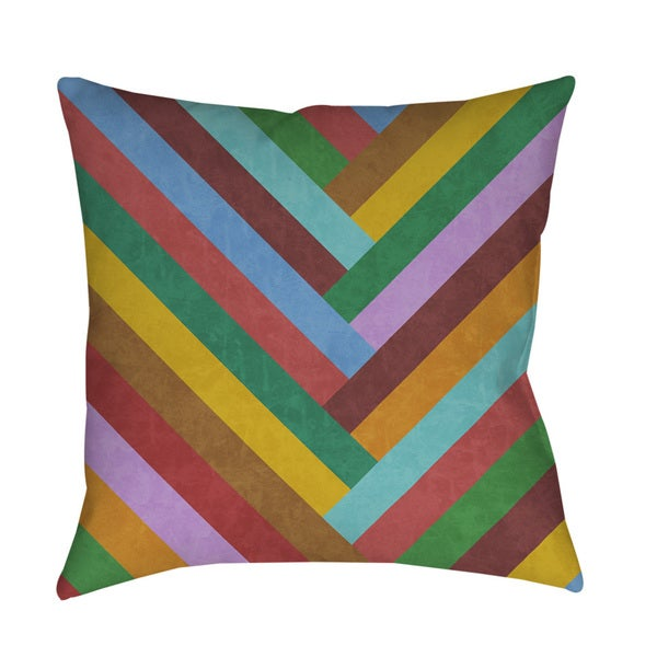 Chevron Rainbow Throw/ Floor Pillow