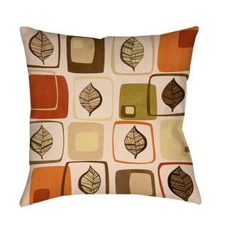 Thumbprintz Deco Leaves Throw/ Floor Pillow