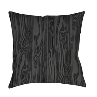 Wood Grain Large Scale Black Throw/ Floor Pillow