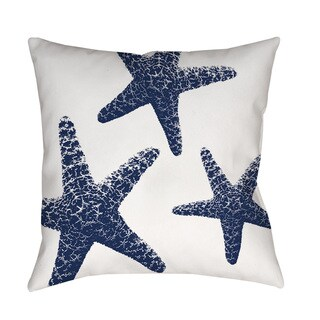 Nautical Nonsense Blue and White Starfish Throw/Floor Pillow