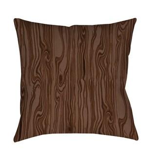 Thumbprintz Wood Grain Large Scale Brown Throw/ Floor Pillow