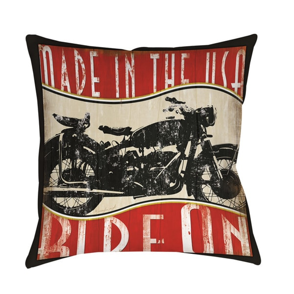 Thumbprintz Vintage Motorcycle Throw/ Floor Pillow