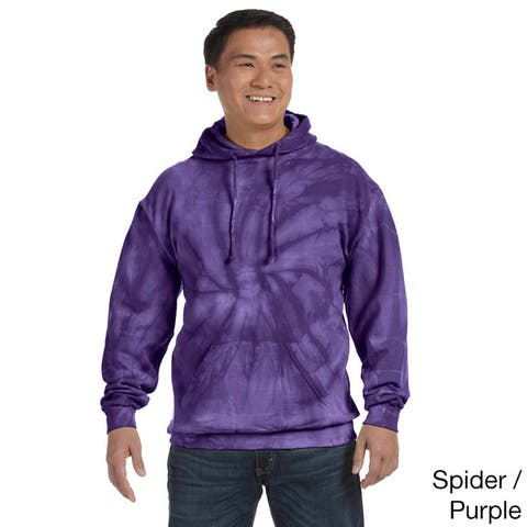 Men's Tie-dyed Cotton Blend Pullover Hoodie