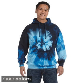 Men's Tie-dyed Cotton Blend Pullover Hoodie (4 options available)