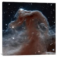 Global Gallery NASA 'Horsehead Nebula, Infrared View' Stretched Canvas