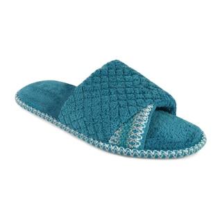 Muk Luks Women's 'Sally' Carribean Open-toe Scuff Slippers