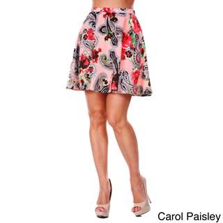 White Mark Women's Paisley Flared Mini Skirt (4 options available)