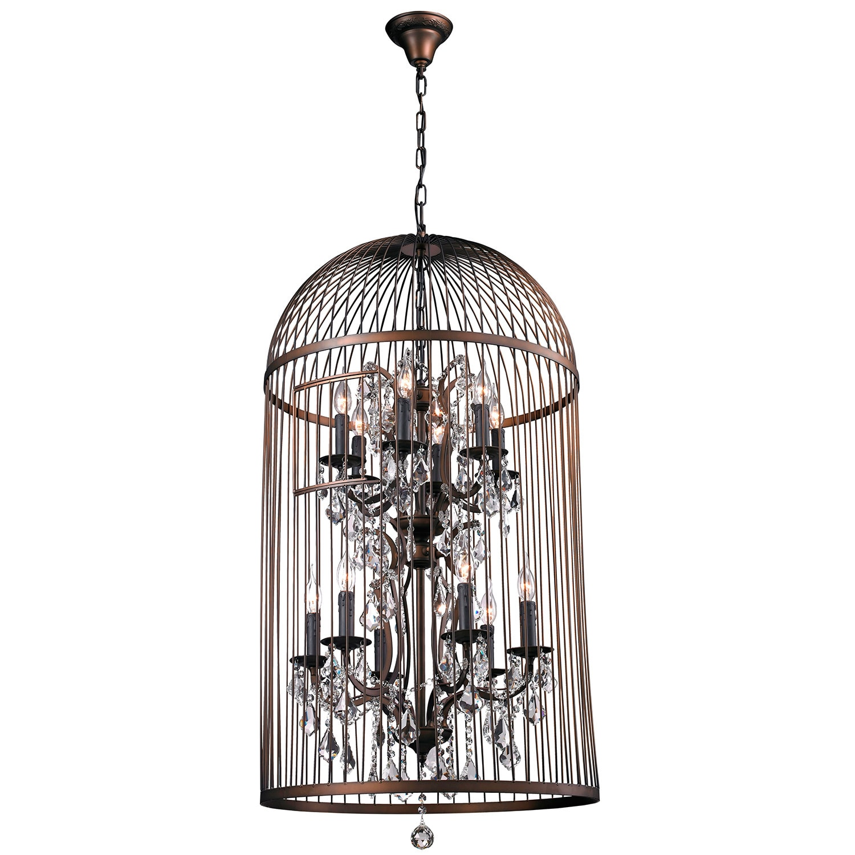 12 light Vintage Bird Cage Chandelier