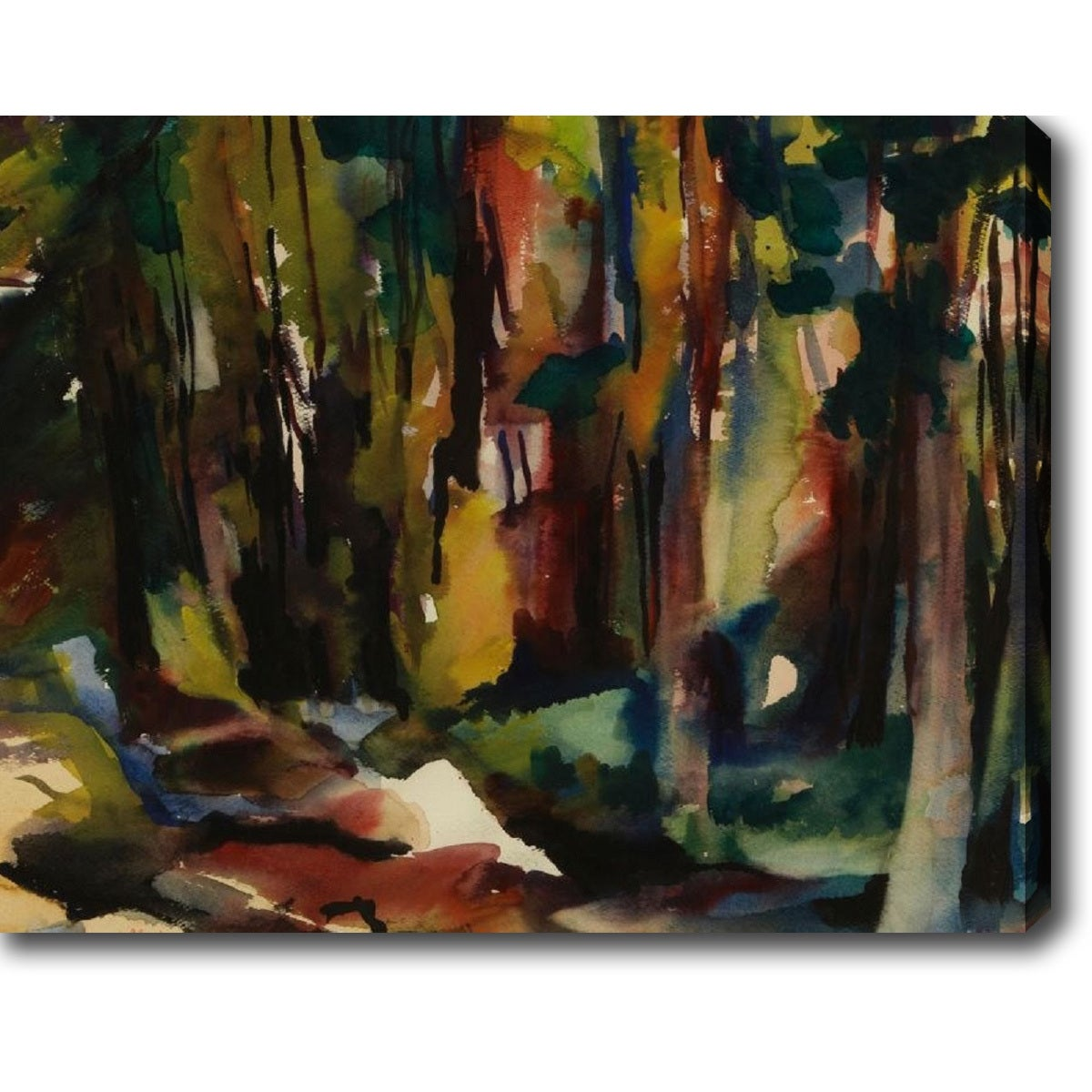 YGC The Woods' Oil on Canvas Art (24 in. H x 30 in. W), S...