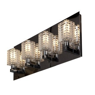Access Lighting Sophie 4 Light Etched Crystal Vanity