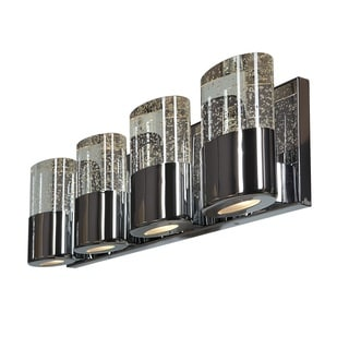Access Lighting Bubbles Solid Crystal 4 Light Vanity