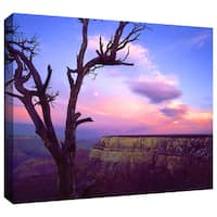 Dean Uhlinger 'South Rim Moon' Gallery-wrapped Canvas