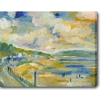The River Bank' Oil on Canvas Art - Multi