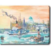 Sailing' Oil on Canvas Art - Multi